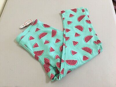 NWT Wonder Nation Watermelon Tough Cotton Capri Cropped Leggings Girls