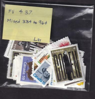 Canada 33¢ to 96¢ mixed lot FV $37 uncancelled no gum stamps [L111]