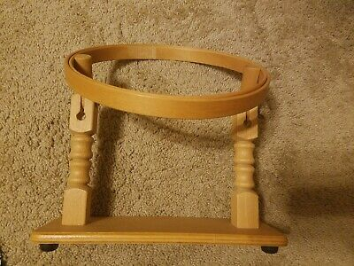 Embroidery Hoop Adjustable Stand Wooden for Lap or Table..Quilting.. Needlepoint