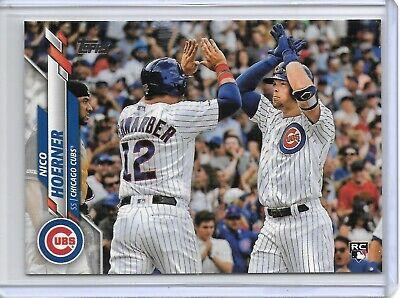 2020 Topps Series 1 NICO HOERNER ROOKIE RC PHOTO VARIATION SP CHICAGO CUBS!!