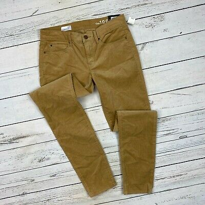 Gap Legging Jeans Size 27 Womens Micro Corduroy Tan Stretch Skinny Pants