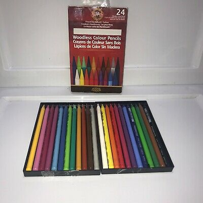 Koh-I-Noor Progresso Woodless Colored 24-Pencil Set Assorted Colored Pencils