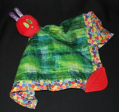 HUNGRY CATERPILLAR Eric Carle baby blanket teether cuddle toy soft rattle