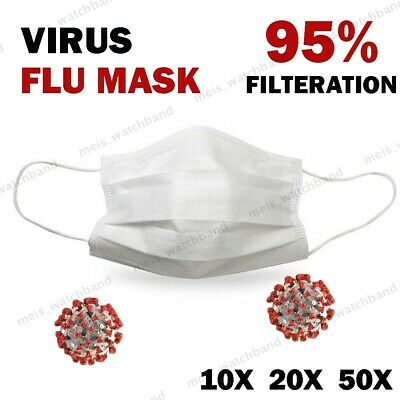 Disposable Face Mask Virus Flu Surgical Medical Dental Industrial 3-Ply Ear Loop