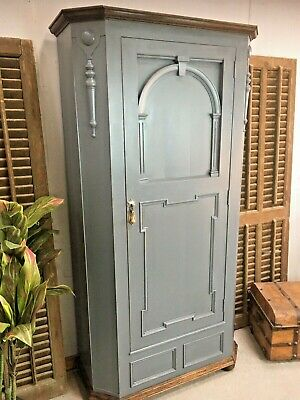 Painted Oak Hall Cupboard Single Wardrobe Antique Hall Robe