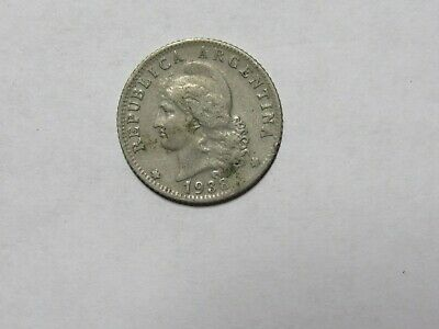 Old Argentina Coin - 1938 20 Centavos - Circulated, discolored, rim dings
