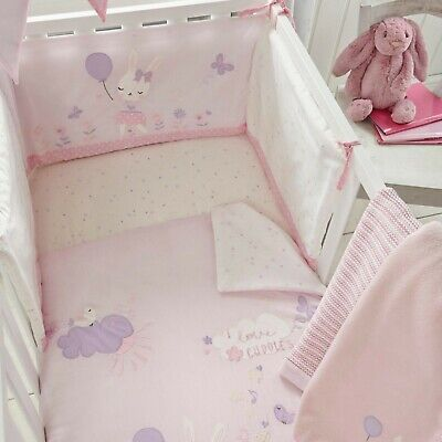 Bluezoo Pink Bunny Cot / Cotbed Set