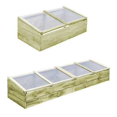 Outdoor Wooden Roof Cold Frame Greenhouse Growhouse Hothouse Plant Flower Bed