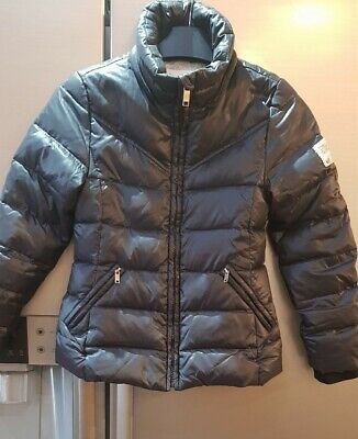 Girls Diesel Black Puffa Coat Aged 8 Years
