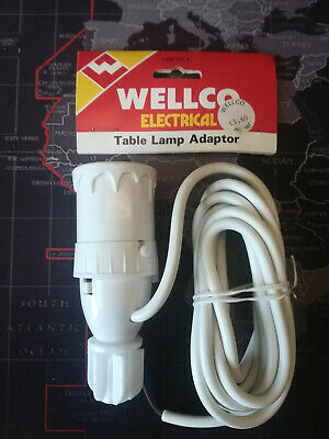 1X Table Lamp Holder Bottle Switch Adaptor with 2m LeadCable Fitted UK Plug #JIU