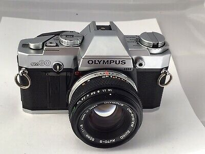 Olympus OM30 Film Camera & 50mm F1.8 Lens, New Seals, Focus Confirmation Working