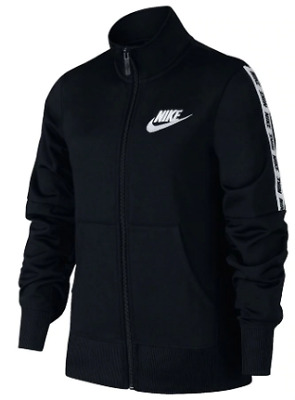 NIKE NSW Track Suit jacket  Gl92 Girls Junior Black White 7-8yrs (SG) *REF156