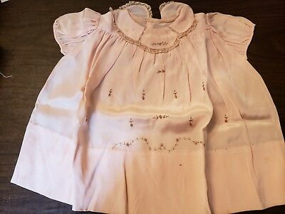 Vintage Embroidered / Lace Baby Christening Dress