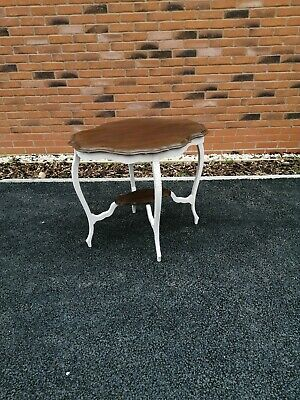 Large Edwardian Part Painted Occasional Table With Undertier.