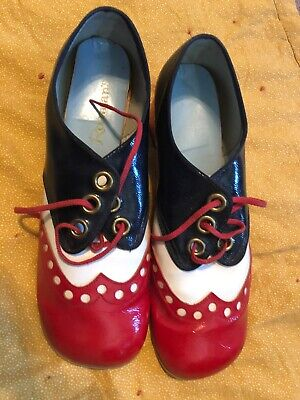 Vintage 1970s Roaman' Red White Blue Shoes Size 10