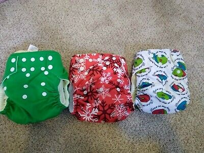 Imagine Bamboo AIO Cloth Diaper Lot All in One