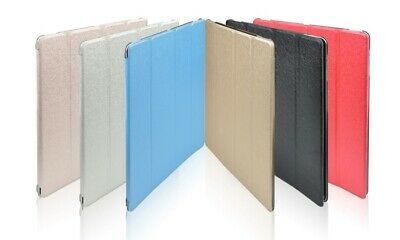Metallic Slim Smart Stand Magnetic PU Leather Cover Case for All iPad Models