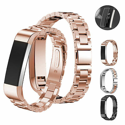 For Fitbit Alta/Alta HR Watch Stainless Steel Metal Band Loop Strap Replacement