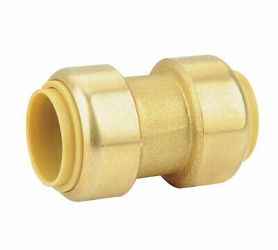 "(5 pack) Brass 1/2"" Push Fit Sharkbite Style Coupling, DZR, Lead Free, New"