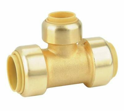 "(5 pack) Brass 3/4"" x 3/4"" x 1/2"" Push Fit Sharkbite Style Tee, Lead Free, New"