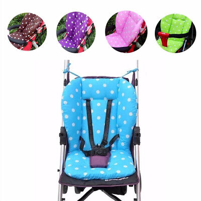Baby Infant Thick Pushchair Mat Dots Liner Cover Stroller Seat Cushion Cotton
