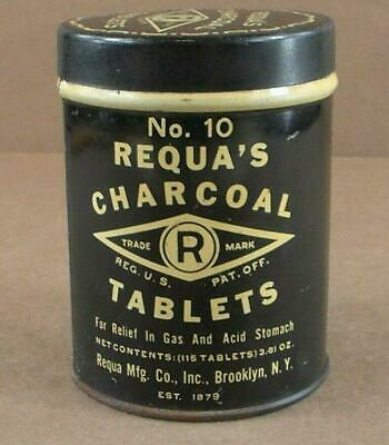 Vintage No. 10 Requa's Charcoal Tablet's Tin