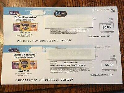 Enfamil Coupons/Checks (4) $5 Exp 4/30/2020 - $20 total