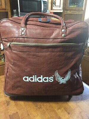 Rare Vintage adidas luggage Carry On Duffle Bag Expandable With Wheels