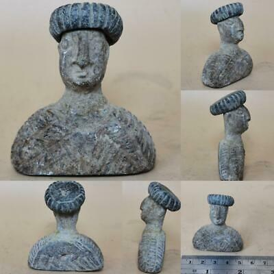 Backtrian Ancient king Wonderful Rare Seated HEad Face statue  # 142