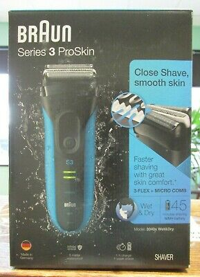 NEW!! Braun Series 3 ProSkin Electric Shaver (3040s Wet&Dry) 1089