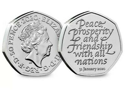 Official UK Brexit 50p Coin Brand New 31st January 2020 ....T0006