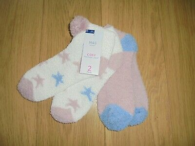 Brand New Women/'s Marks /& Spencer Sumptuously Soft Patterned 5 Pack of Socks 3-8