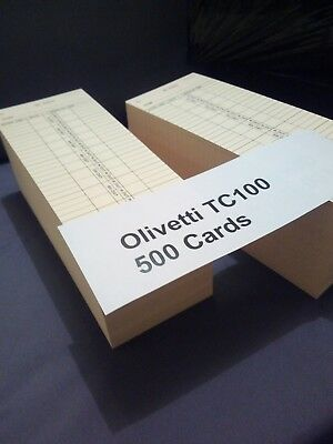 Time Clock Cards Compatible for Olivetti 1 Pack 250