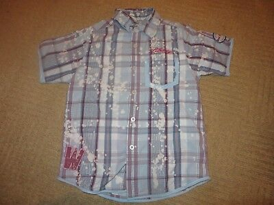 boys boy shirt top blue red white age 6 years short sleeved