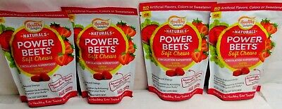 4 BAGS OF Healthy Delights Power Beets Super Concentrated Beet Root Soft Chews
