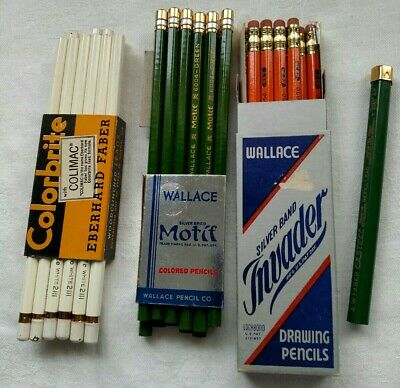 Lot of Eberhard Faber Castell Wallace Colored Drawing Pencils Leads