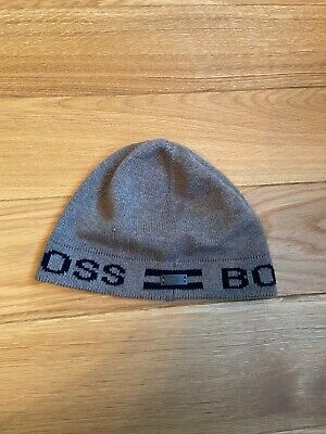 Hugo Boss Grey Beanie And Scarf Set One Size