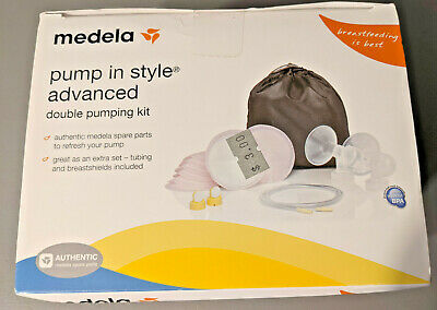 Medela Advanced Double Pumping Kit, breastfeeding, spare parts kit, lot of 2