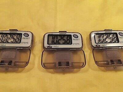 3 Omron HJ-002 Simple Easy to use Pedometers Brand New NWOB