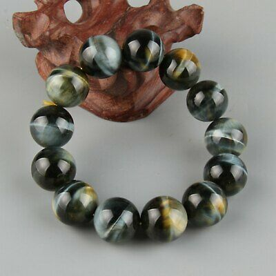 Chinese Exquisite Hand carved  tiger's-eye stone Bracelet