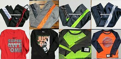 NIKE BOYS Size 4 TRACK PANTS & Size 5 LONG SLEEVE TOPS ~ WINTER ~ 8PC $216