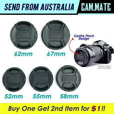 Camera Lens Front Cap 52/55/58/62/67mm w/ Secure String DSLR Cover Protector Lid