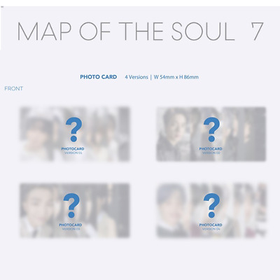 Bts - Map Of The Soul : 7 Photo Card & Group Photo Card Jungkook V Jimin Suga