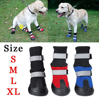 NEW 4pcs Warm Booties Waterproof Shoes Anti-Slip Snow Winter Pet Dog Puppy Boots