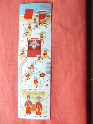 Canada 2020 Year Of The Rat Bookmark - First Day Cancel Just Issued