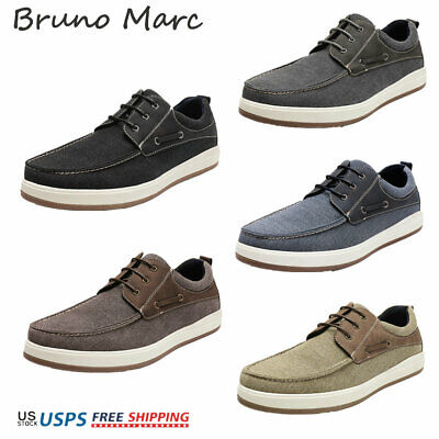 Bruno Marc Mens PU Dress Shoes Formal Classic Lace-up Business Flat Casual Shoes