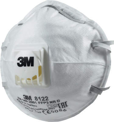3M 8122 Respirator Mask N95Cool Flow Exhalation Valve 10-Pack Free shipping NEW