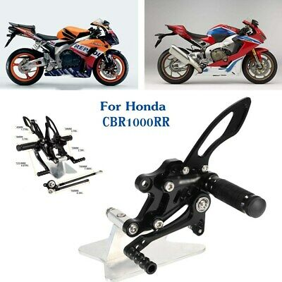 Motorcycle Rearsets Footpegs CNC Aluminum Alloy back Step For Honda CBR1000RR