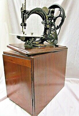 Vintage Antique Sewing Machine Wilcox Willcox & Gibbs Silent Automatic 1880's