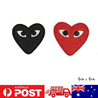 1x  Heart Fashion Embroidered Cloth Applique Patch Iron Sew On